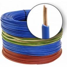Conductor electric, unifilar FY, 1,5 mm, rosu, albastru, verde-galben