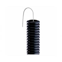 Tub Copex, flexibil ignifug, cu fir de tragere, 16 mm, Gewiss, negru