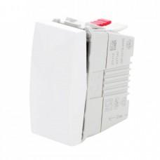 materiale electrice - intrerupator simplu schneider unica, incastrat, modular, alb - schneider - mgu3.101.18