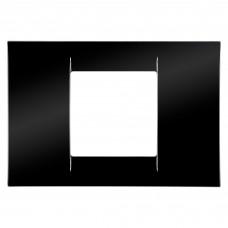 Rama Gewiss Virna, 2 module, neagra, pentru priza / intrerupator
