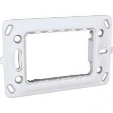 materiale electrice - suport aparataj, 3 module, schneider, unica - schneider - mgu7.103.p