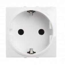 materiale electrice - priza schuko schneider unica, incastrata, modulara, 2m, alba - schneider - mgu3.036.18