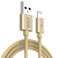 Cablu USB iPhone 5 / 6 / 7 Golf Data Sync Quick Charge 5A AURIU 1m / 5000mA