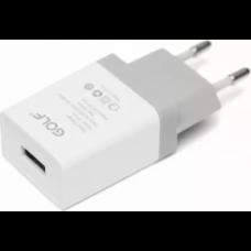 Alimentator Incarcator de la 230V la 1 x USB 1A Alb GF-U1 blister Golf