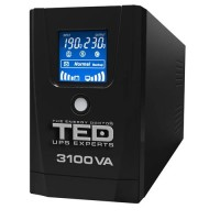 UPS TED Electric 3100VA / 1800W cu 3 iesiri si display LCD TED-3100