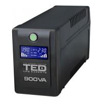 UPS TED Electric 900VA / 500W cu 2 iesiri si display LCD TED-900