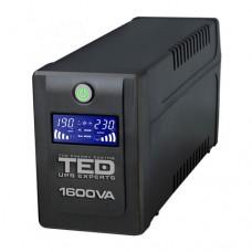 UPS 1600VA / 900W Line Interactive cu 4 iesiri si display TED-1600