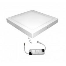 Corp de iluminat patrat, LED, montaj aparent, 24W, 2250 lm, 300x300 mm
