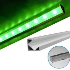materiale electrice - profil aluminiu,pentru banda led, aparent, de colt, 2m - lumen - 05-30-05702