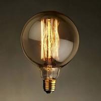 Bec decorativ Edison, tip GLOB MIC, cu dulie E27, dimabil, 40W, 130 lm, 2200 K