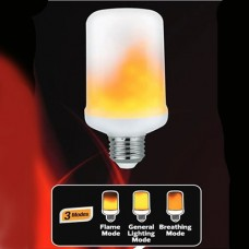 Bec LED  decorativ FIREFLUX, tip flacara, cu dulie E27, 5W, 117 lm, 1500 K