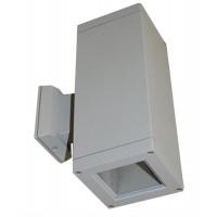 Spot pentru iluminat exterior, patrat 108x108mm, cu dulie 2xE27