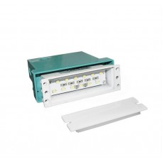 materiale electrice - spot led, incastrat, dreptunghiular, 0,8 w, 12 leduri, lumina albastra, 96 mm, alb, ip 54 - lumen - 00-9601/albastru