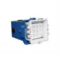 Spot LED, incastrat, patrat, 0,6 W, 9 leduri, lumina calda, 65 mm, alb, IP 54