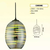 Pendul sticla, 3D, LASER, E27, 210X270 mm