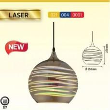 materiale electrice - pendul sticla, 3d, laser, e27, 240x220 mm - horoz electric - laser