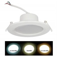 Spot LED SMD, incastrat, rotund, 12W, 960 lm, 3000k, 121 mm, alb, IP 54