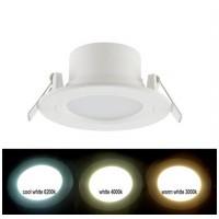 Spot LED SMD, incastrat, rotund, 6W, 450 lm, 3000k, 100 mm, alb, IP 54
